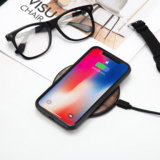 ZIISTLE walnut real wood ultra-thin fast charge wireless charging iPhoneX Apple Huawei airpod headphones