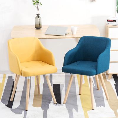 北欧实木沙发椅现代简约卧室布艺餐椅客厅休闲咖啡厅椅单人电脑椅怎么样