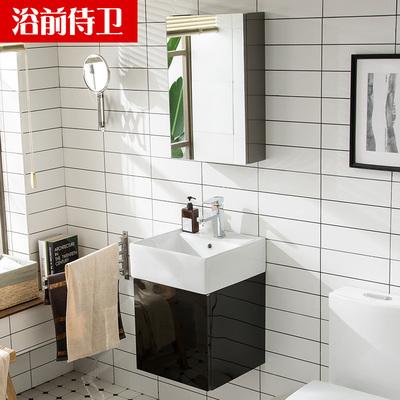 小户型不锈钢浴室柜组合镜柜洗手洗脸盆池卫生间厕所迷你洗漱台盆