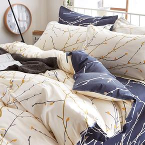 纯棉床上用品全棉四件套1.8m双人床单床笠被套单人床三件套1.5米