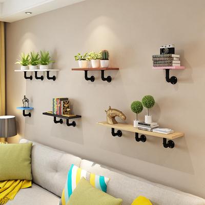 墙上置物架客厅墙壁花架隔板壁挂一字搁板铁艺书架装饰架创意支架