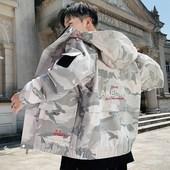 工装 外套男潮牌迷彩春秋男式嘻哈潮流男孩上衣刺绣秋季青年夹克衫图片