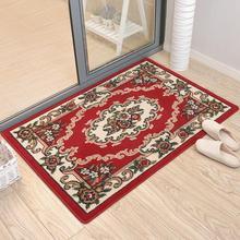 欧式门口垫深色地板砖长条四季客厅地毯卧室床边混纺绒面飘窗家用