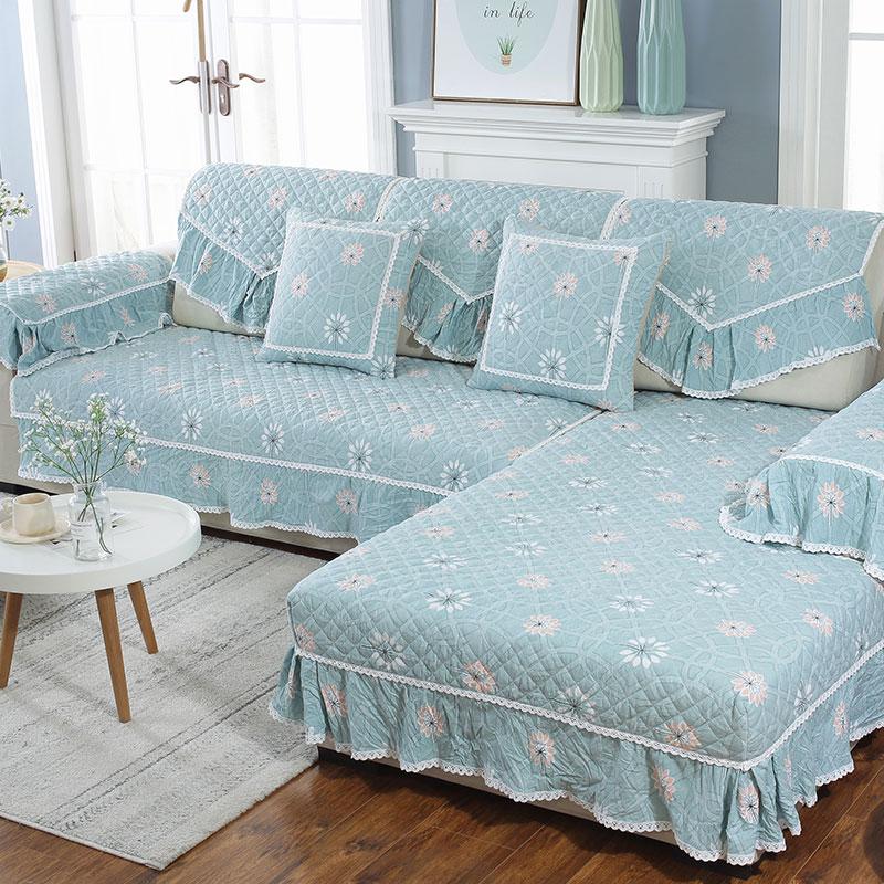 夏季四季通用现代简约防滑沙发坐垫套布艺全包非萬能罩靠背巾全盖