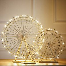 Nordic style creative Ferris wheel ornaments rotating luminous model home living room TV cabinet wine cabinet decorations