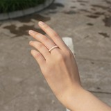 Natural Freshwater Small Pearl Ring Near True Round Pearl Stretch Single Ring Ring 2-3MM Natural Pearl Ring