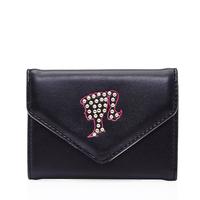BARBIE/芭比女包新款钱包时尚潮流简约复古铆钉短款对折手拿包