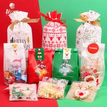 圣诞节糖果袋抽绳袋牛轧糖雪花酥包装袋自封新年牛扎曲奇饼干袋子