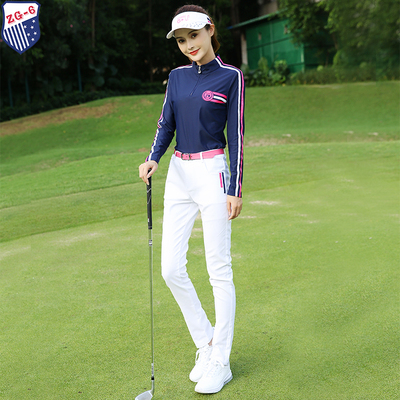 2018秋冬季ZG-6高尔夫衣服女球服装女套装长袖T恤打底上衣长裤子