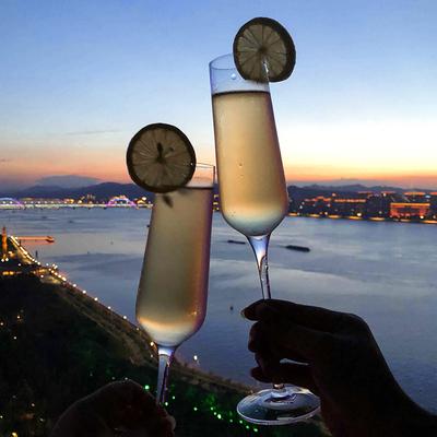 无铅水晶香槟杯子套装红酒高脚杯葡萄酒杯气泡杯鸡尾酒杯2支包邮