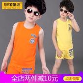 童装夏装男童套装2018新款儿童衣服夏季宝宝背心短裤小男孩两件套