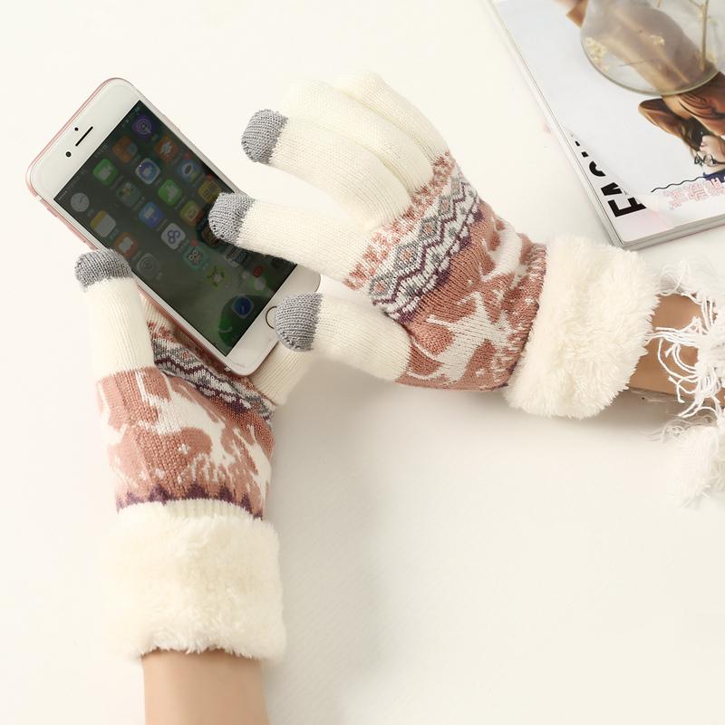 可爱毛线分指手套