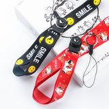 Mobile phone lanyard hanging neck female shell rope personality creative pendant hanging mobile phone chain key hanging wristband new u disk male wide shell lanyard apple short paragraph detachable anti-lost rope net red wrist