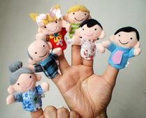 Caricature marionnette poupée doigt bébé enfant bébé histoire enseigner tôt puzzle apaisante de poupée pour petites peluches