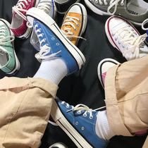 若步经典简约网卡透气低帮帆布鞋夏季一脚蹬舒适休闲情侣甜美女鞋