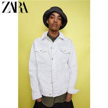 ZARA 新款 男装 基本款牛仔夹克外套 04454400250