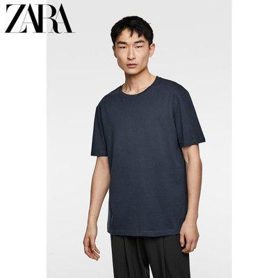 ZARA 新款 男装 基本款短袖宽松 T 恤 01887440401