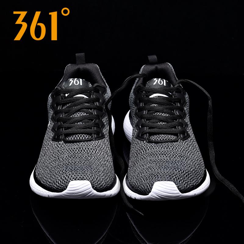361男鞋运动鞋2018夏季新款网面跑步鞋361度飞织透气休闲跑鞋男