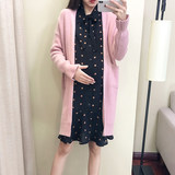 Pregnant women sweater autumn/winter dress 2019 fashion dress two-piece set loose knit sweater cardigan jacket top