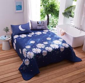 韩版纯棉床上床盖单件绗缝被全棉床单夹棉加厚铺盖1.8m床单三件套
