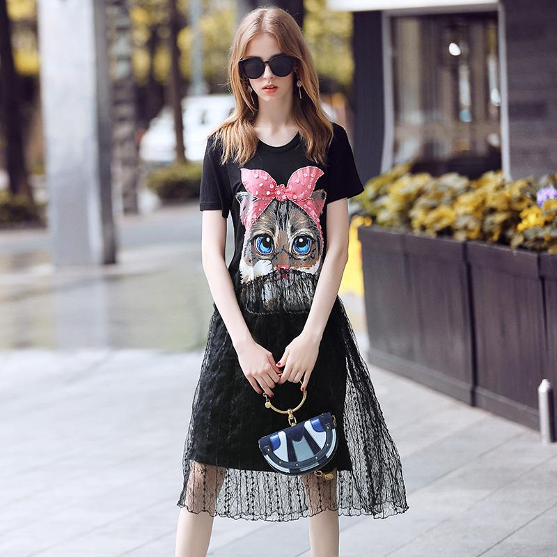 猫新款连衣裙