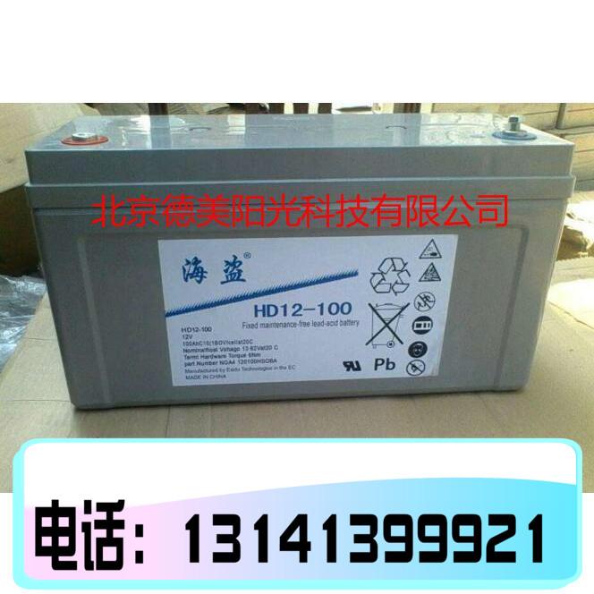 海盗蓄电池HD12-100 现货供应12V100AH应急照明储能型电池 包邮