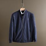 国内大厂货春装夹克棒球领时尚暗花纹修身简约工装通勤外套薄款