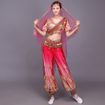New Xinjiang Uygur dance costumes Kazakh ethnic clothing embroidery sequins India belly dance clothing