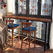 隔断吧台桌酒吧靠墙长条窄桌餐桌新品小吧台桌家用客厅高简约现代