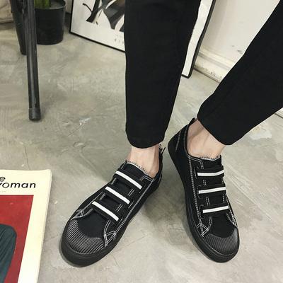2018春季新款帆布鞋男鞋港仔文艺布鞋春款港风平底板鞋青少年潮鞋