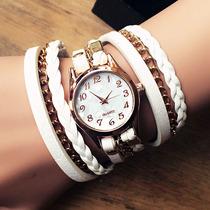复古皮带缠绕时装手链手镯表女学生男韩版简约时尚潮流女士手表