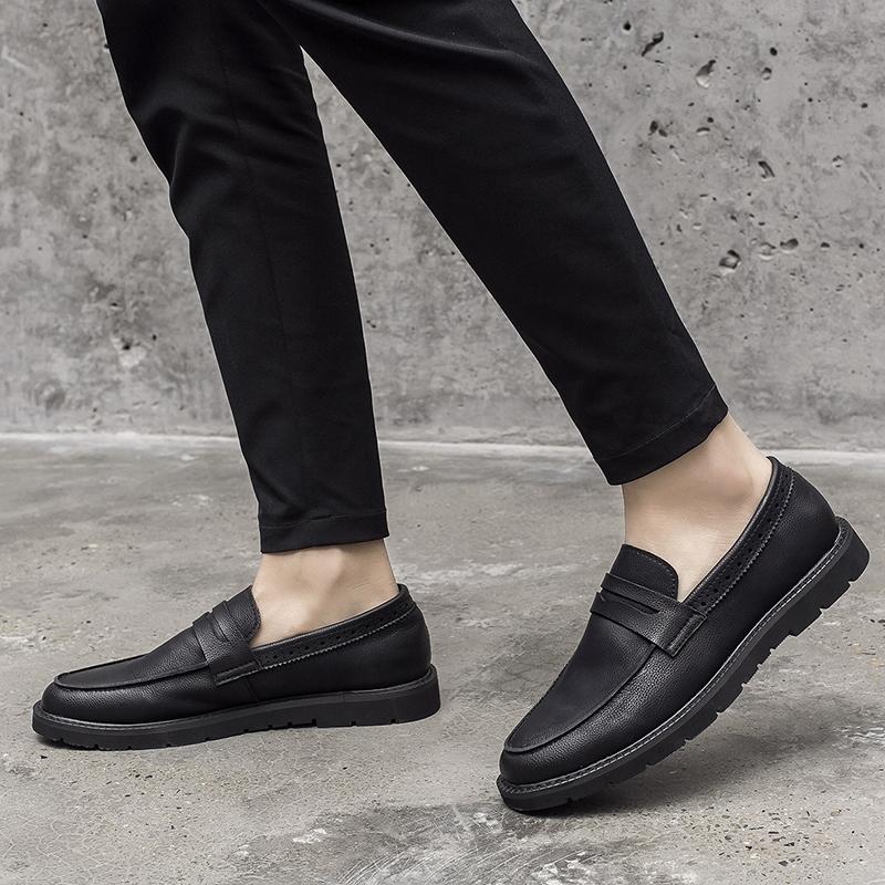 复古豆豆鞋男