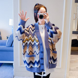Pregnant women sweater spring and autumn 2019 new knit short coat sweater fashion large size maternity clothes autumn shirt