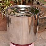 不锈钢锅汤锅加厚电磁炉专用汤桶家用带盖酒店商用桶大容加深圆桶