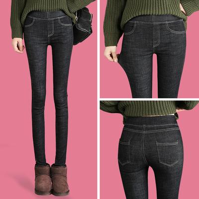 打底裤女外穿春秋2018新款韩版显瘦紧身高腰女裤子薄款小脚牛仔裤