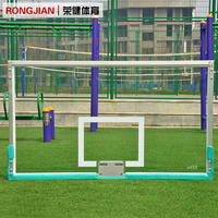 Outdoor standard tempered glass backboard with various basketball hoops