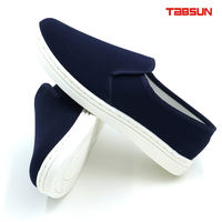 TABSUN anti-static blue canvas towel shoes PVC navy blue deep duck tongue all-inclusive 613 dust-proof clean shoes