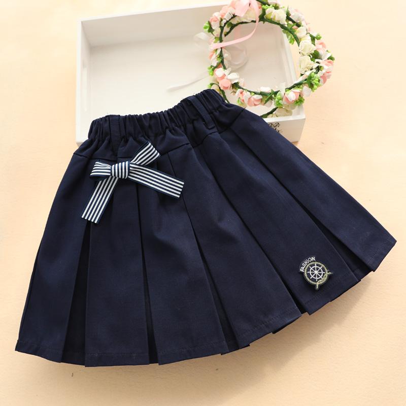 女童半身裙夏中大童裙子儿童短裙小学生校服女格子裙子英伦百褶裙