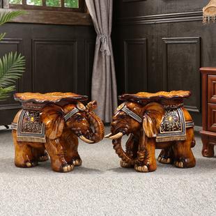 凳招财象仿守菊胁瓶吞装 凳摆件特大号门口换鞋 饰品 中式大象换鞋