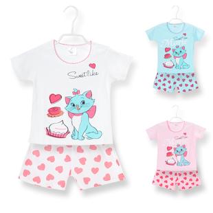 女宝宝夏装套装0 1 2 3岁2018新款婴幼儿童外出衣服女童短袖套装