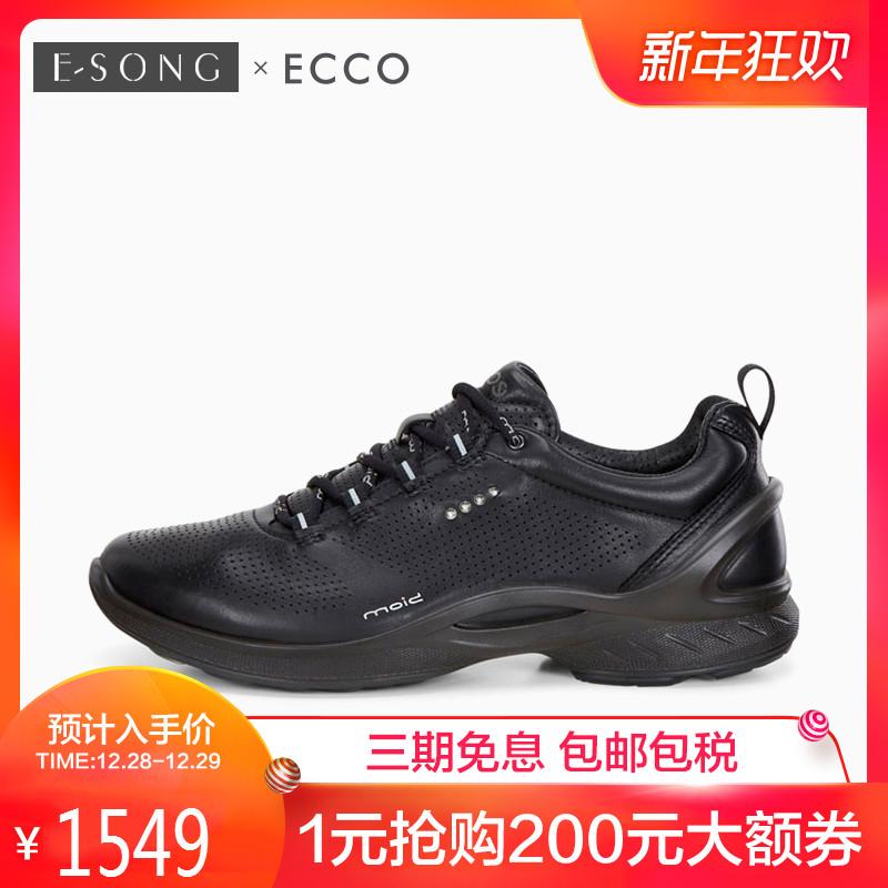 Ecco/爱步女鞋秋冬舒适Biom健步透气运动跑步牦牛皮休闲鞋837513
