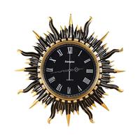 创意欧式复古墙壁装饰挂钟客厅圆形太阳艺术壁钟静音钟表时钟挂表