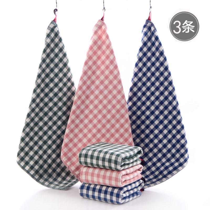 纱布方格毛巾