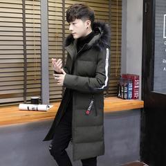 男式长款加厚棉衣