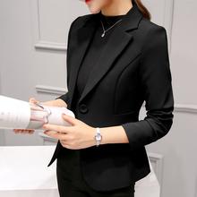 2019春装新款chic职业百搭西服长袖韩版修身显瘦小西装外套女短款