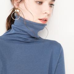 毛衣女修身短款高领