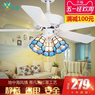 田园电风扇灯