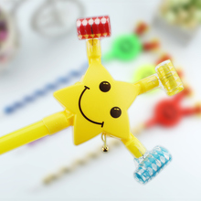 Tornado toy telescopic whistle, large volume blow whistle, children's birthday party products, smiling face, moustache roll