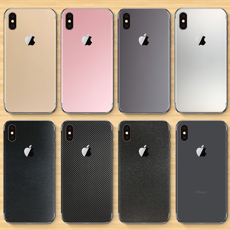 苹果iphonex手机xr磨砂7p背贴iPhone7全身贴膜6splus背膜xs贴纸7Plus背面max改色8后膜8plus纯色6后盖保护膜
