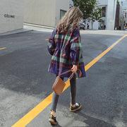 格子风衣女中长款韩版2019新款春秋季短款小个子薄款学生春装外套